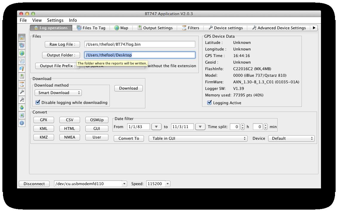 8 - output folder