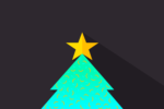 Christmas tree in foolography style