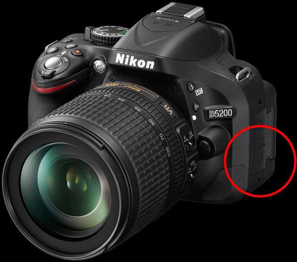 Nikon D5200 GPS Port
