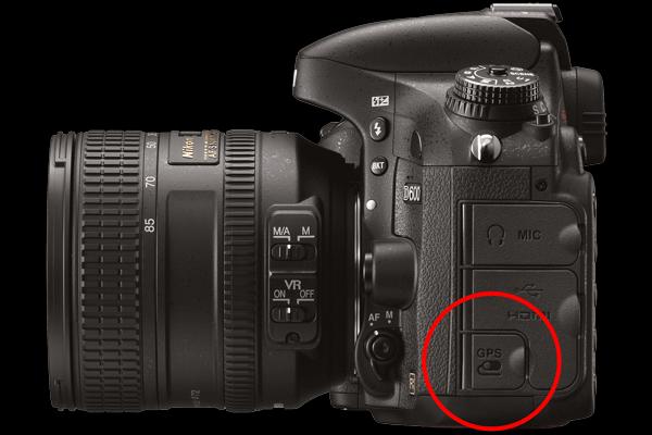 Nikon D600 GPS Port