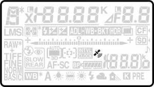 D810 Top LCD new GPS icon