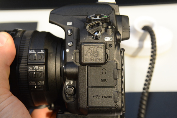 Unleashed Dx000 on D750 Side View