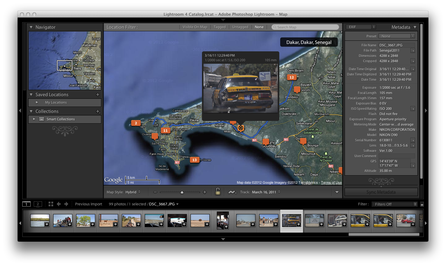 is coming out with support for geotagged photos. Finally Adobe has