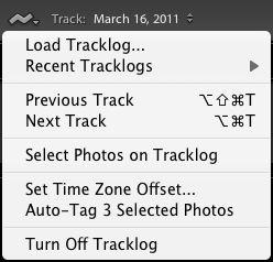 Lightroom 4 tracklogs
