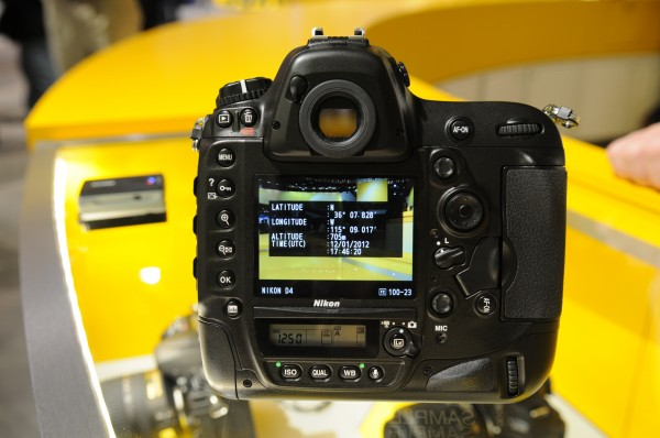 Nikon D4 with GPS data (back)
