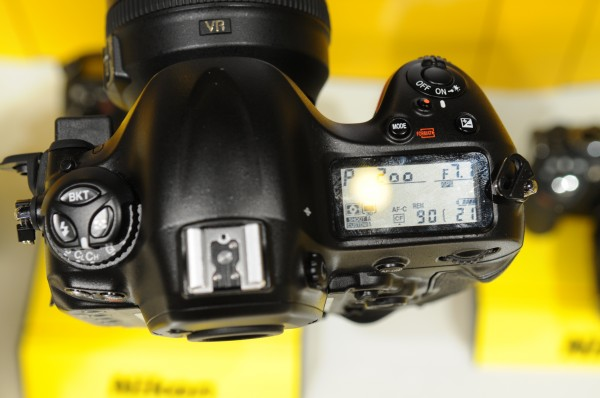 Nikon D4 with GPS icon (top view)