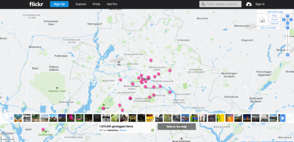 Geotagging Map Flickr