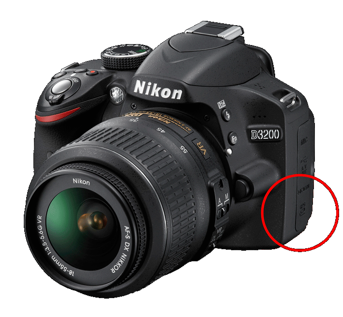 Nikon D3200 with GPS port
