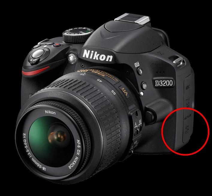 Nikon D3200 with GPS port