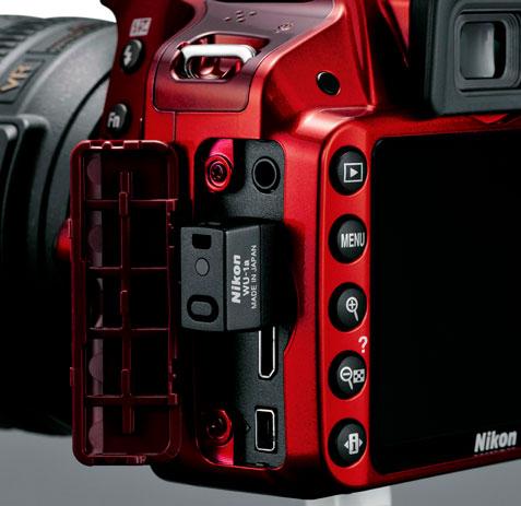 Nikon D3200 ports with WU-1