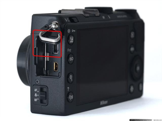 Nikon Coolpix A GPS port